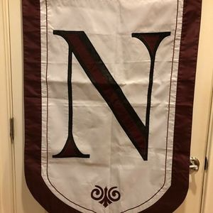 Evergreen Monogram Letter N Outdoor Flag